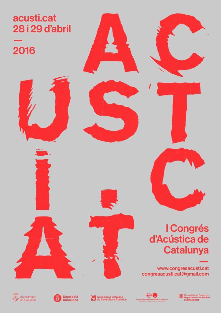 1r Congrés d'Acústica de Catalunya. Modelo. Acústica Integral Barcelona.